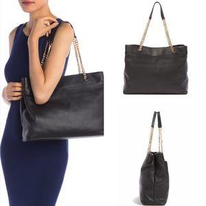 14th & union morton leather tote bag black